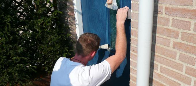 Deuren houtrot reparatie schildersbedrijf tilburg hagen for Goede behanger
